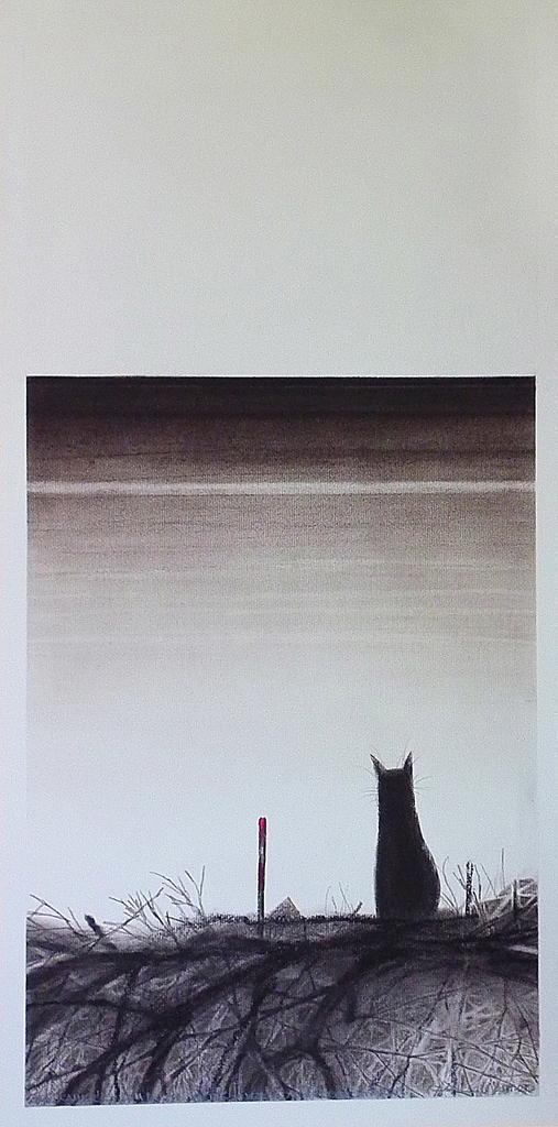 Fábián László - Nem baj ha sötétek a vizek, az ég legyen tiszta - pasztell, ceruza
