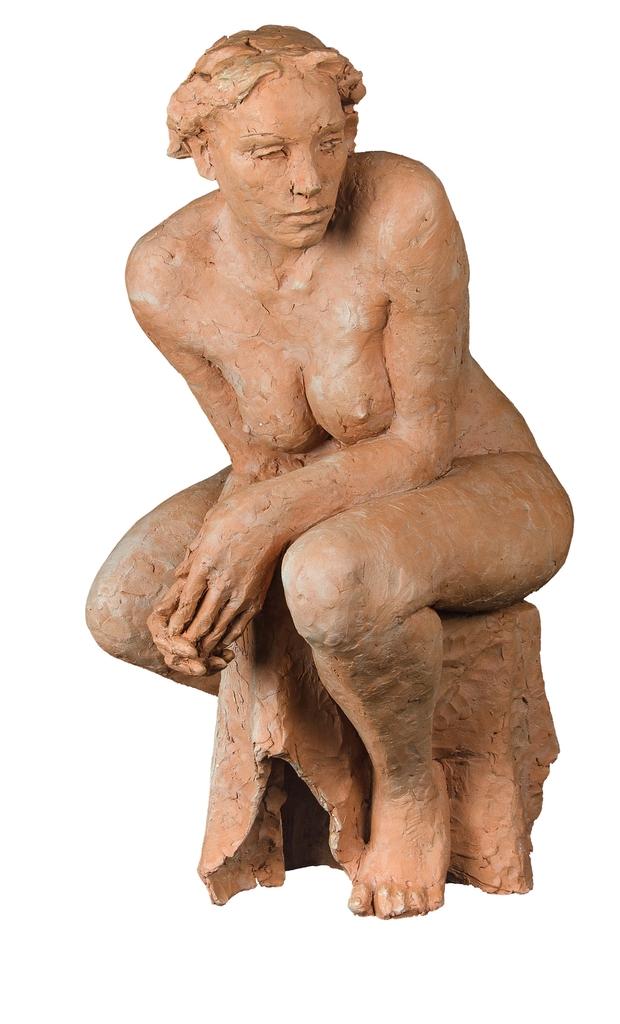 Farkas Ferenc Ülő című szobra