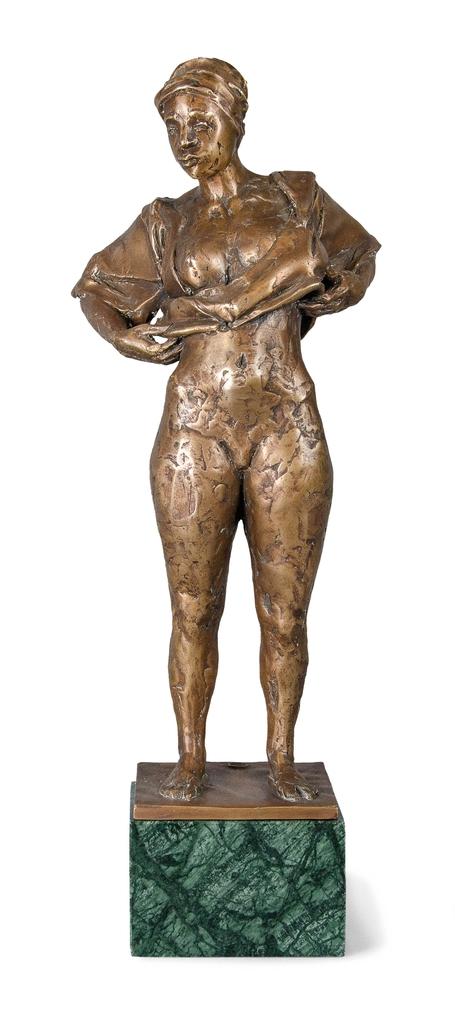 Farkas Ferenc Reggel című szobra