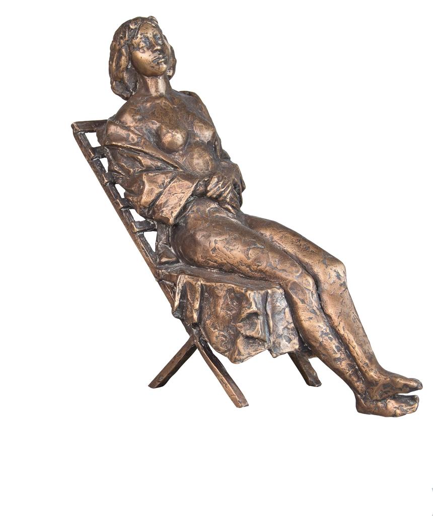 Farkas Ferenc Nyugágyon című szobra