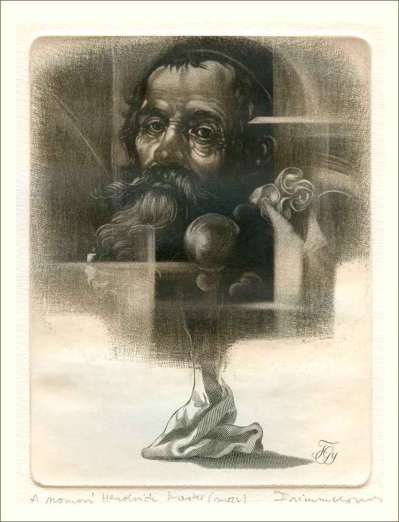 A szomorú Hendrick mester (1998) - grafika - Frimmel Gyula