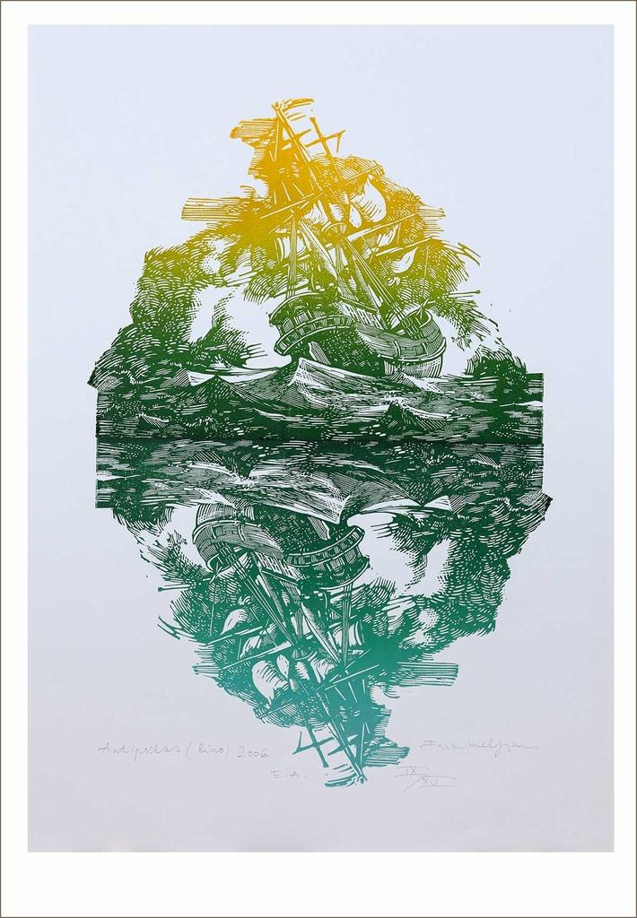 Antipodus (2008) - grafika - Frimmel Gyula