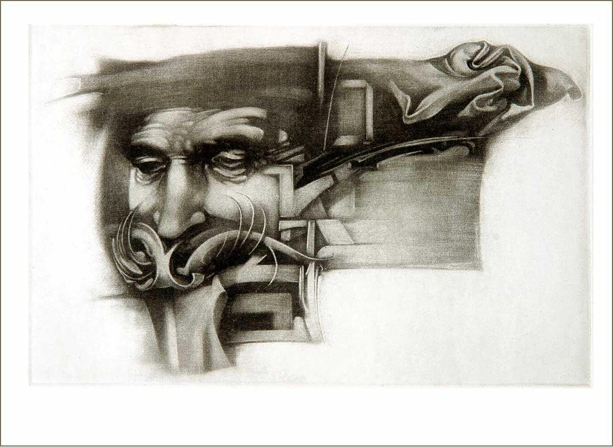 Bajusz (2008) - grafika - Frimmel Gyula