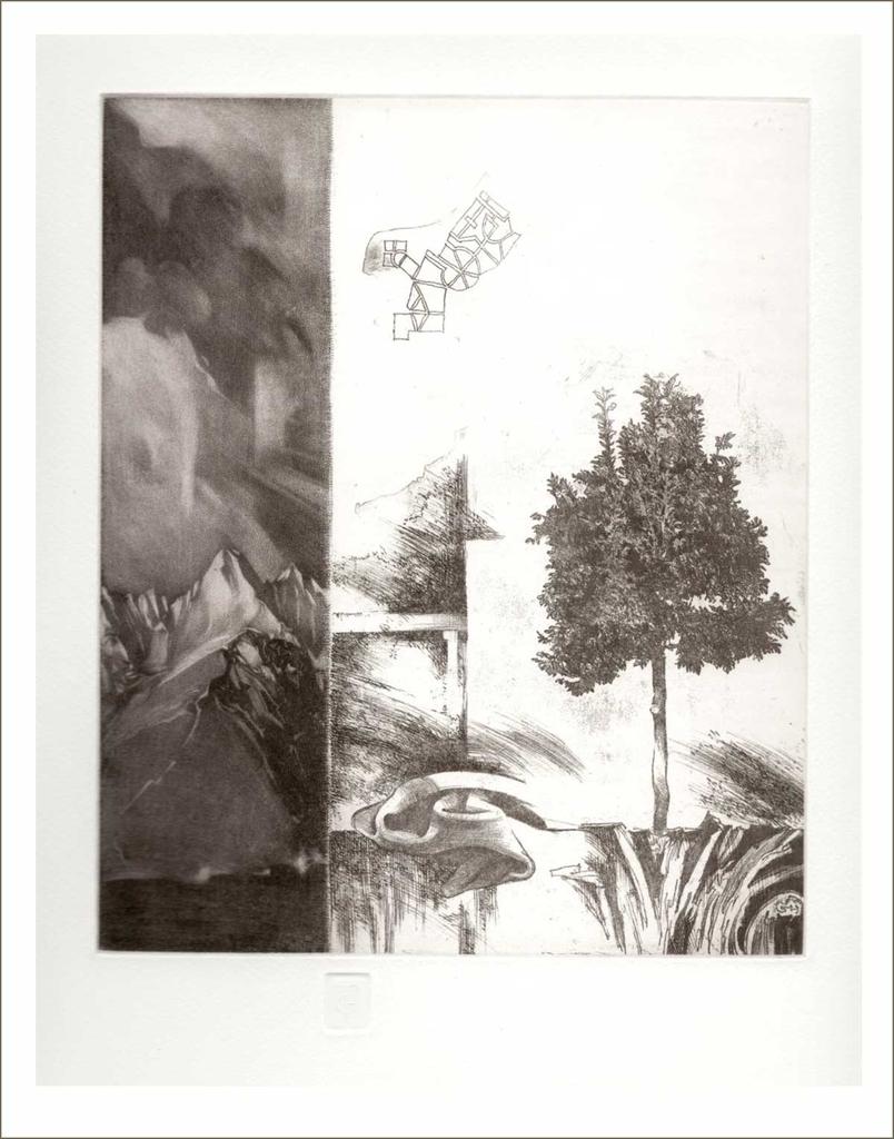Fölfelé (2002) - grafika - Frimmel Gyula