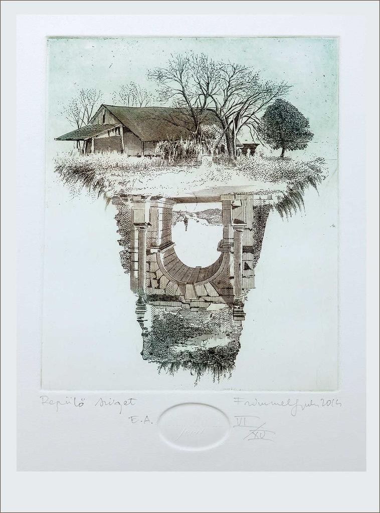 Repülő sziget (2013) - grafika - Frimmel Gyula