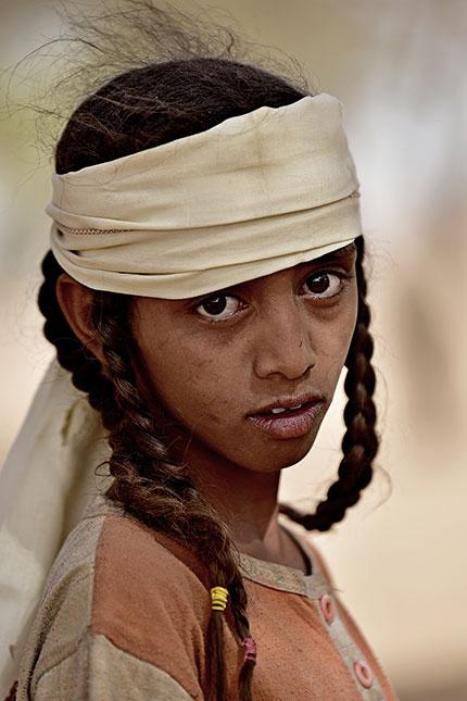 Beduin kislány Szudán