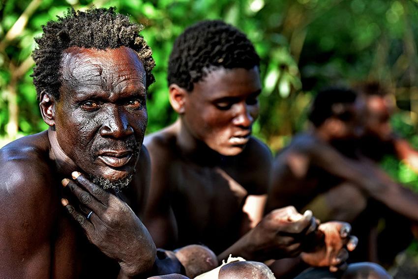 Hadza törzs i férfiak - Afrika