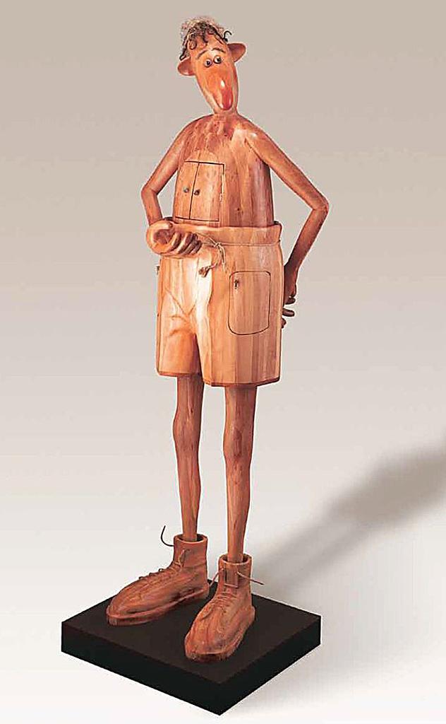 Lajcsika - szobor - Sprok Antal