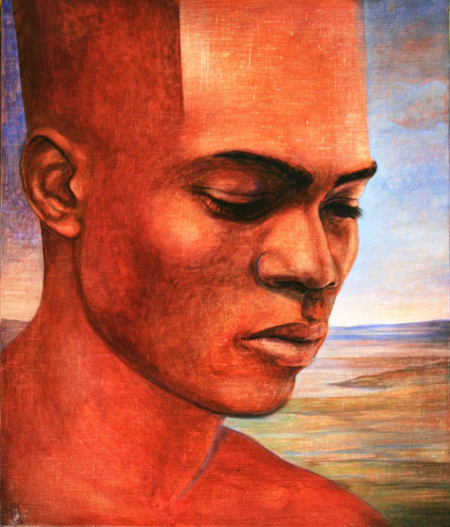 Szurcsik József - A megfáradt - festmény