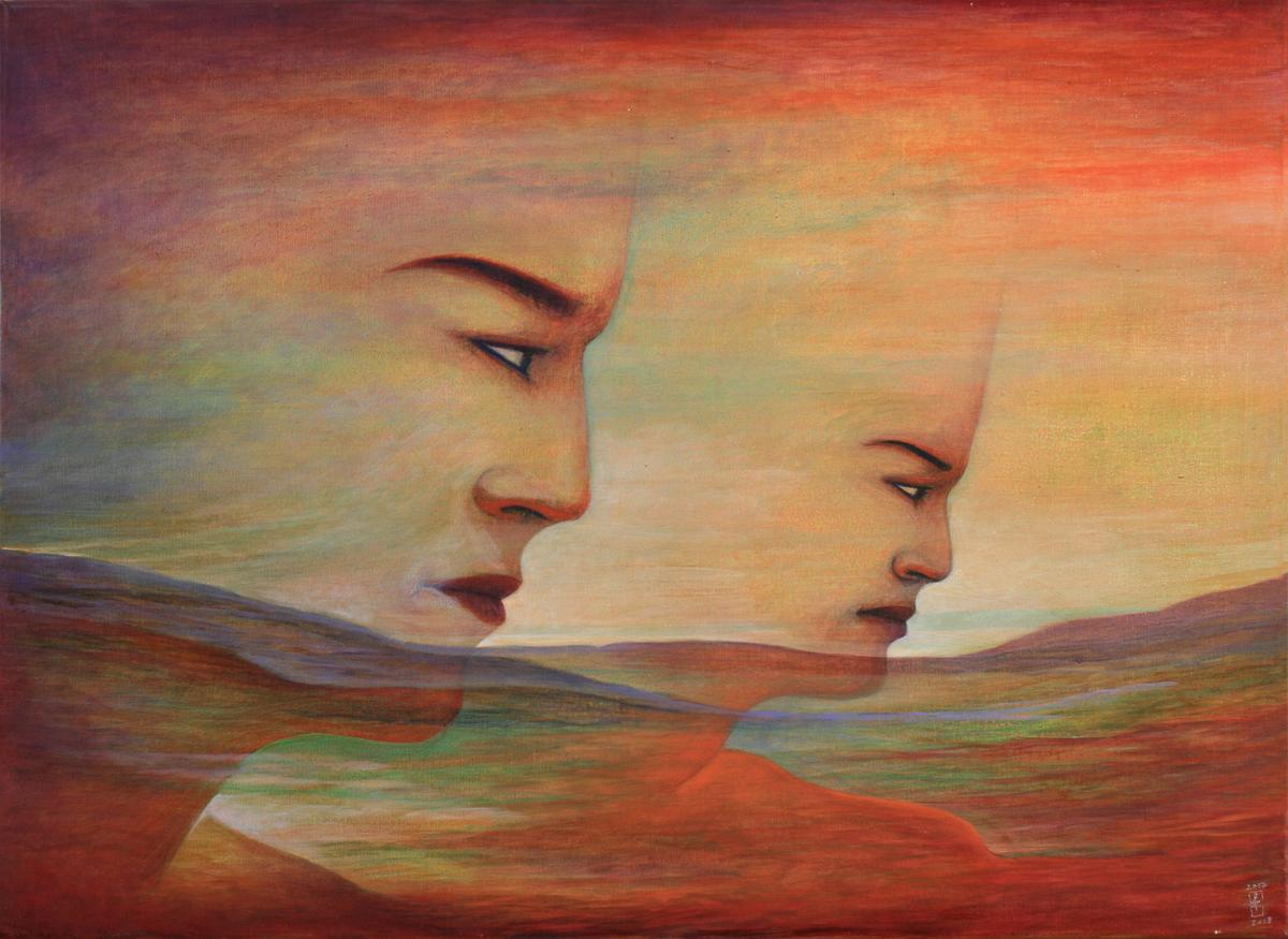 Szurcsik József - Ábrándozók - festmény