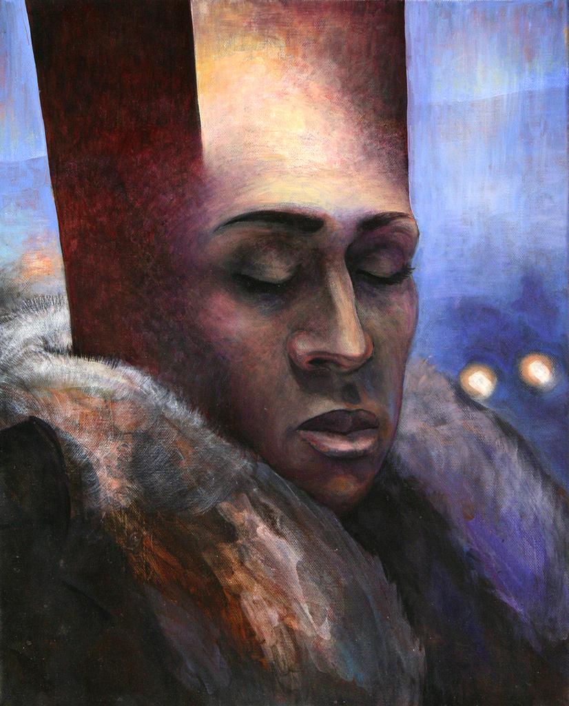 Szurcsik József - Az álmodó - festmény