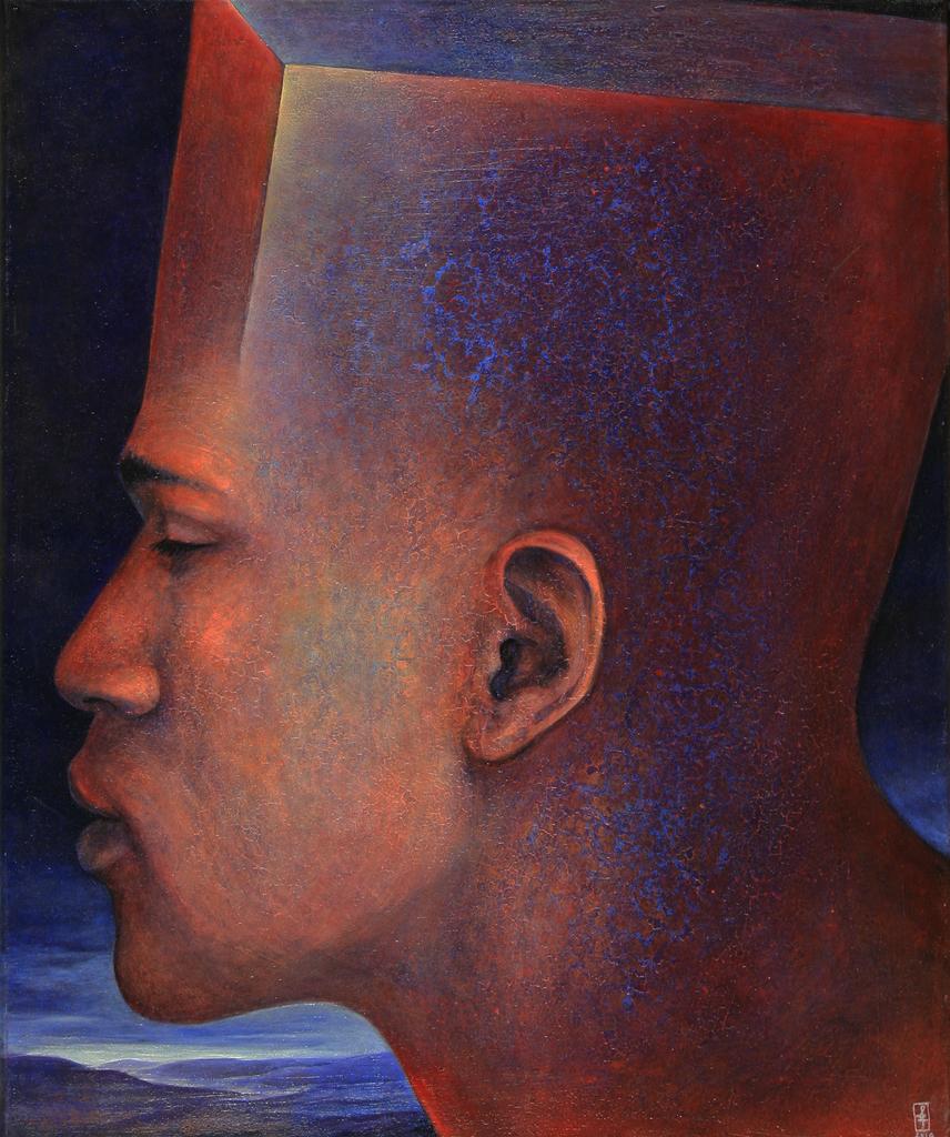 Szurcsik József - Az elmélyült - festmény