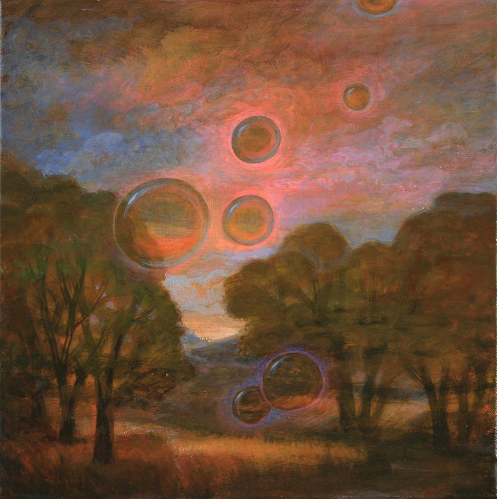 Szurcsik József - Buborék - Festmény