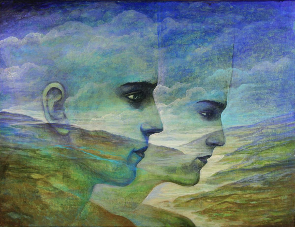 Szurcsik József - Időhatár-átlépők - festmény