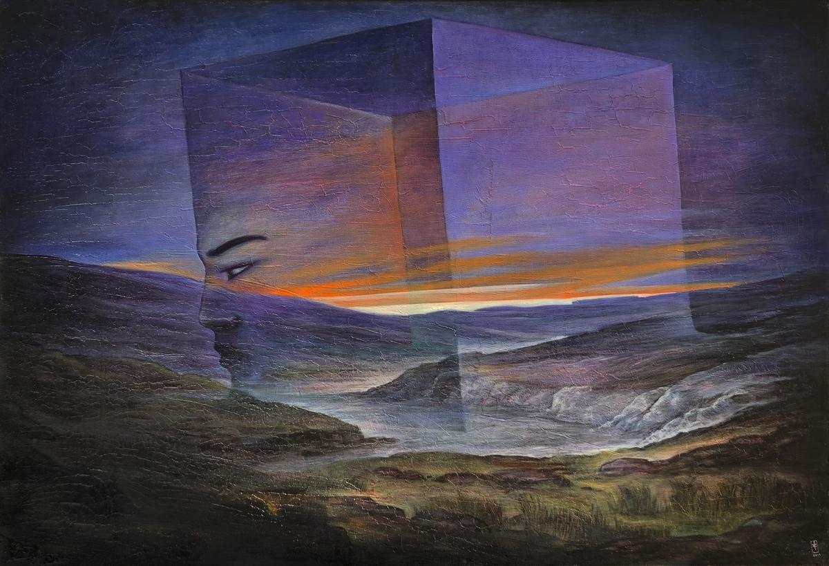 Szurcsik József - Időkép - festmény