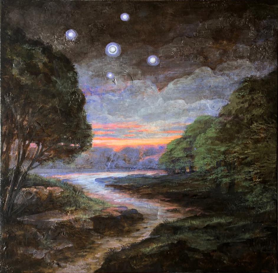 Szurcsik József - Jelenség - festmény