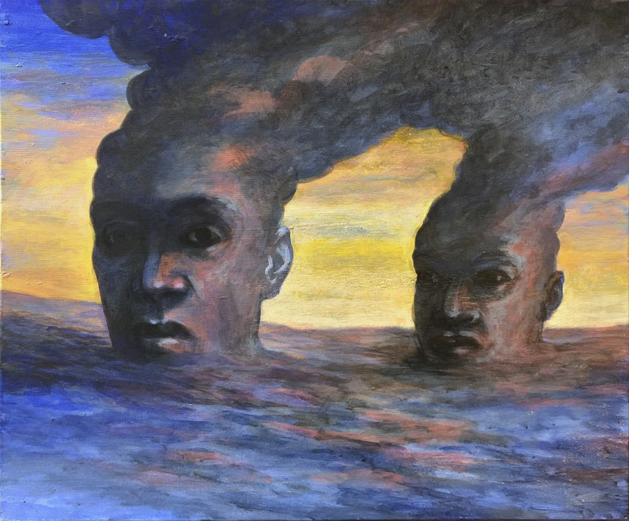Szurcsik József - Merülés - festmény