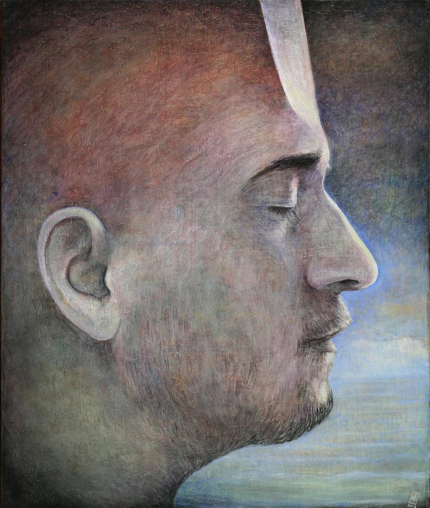 Szurcsik József - Pihenő - festmény