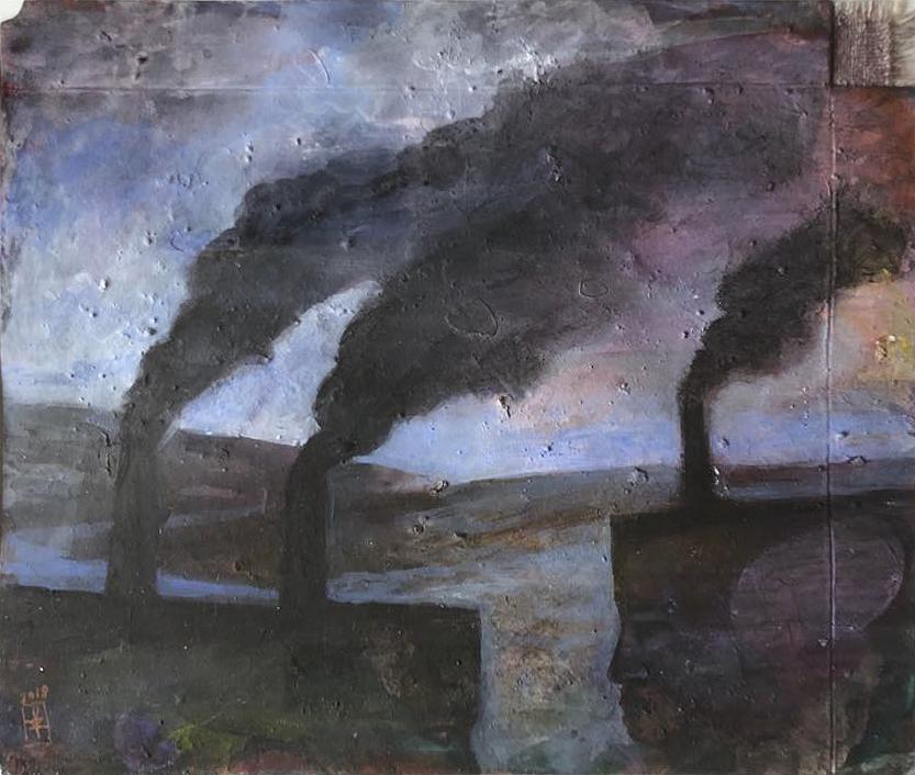 Szurcsik József - Találkozó - festmény