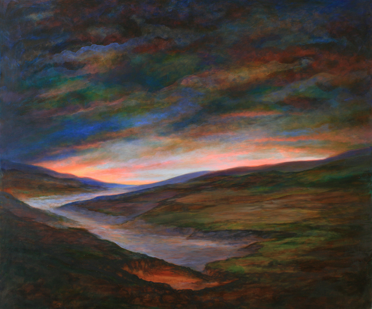 Szurcsik József - Titkok völgye - festmény