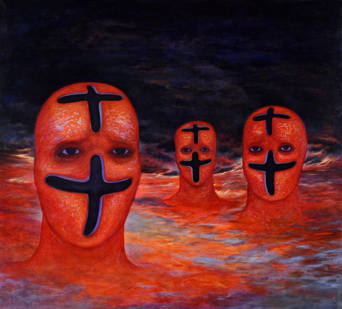 Szurcsik József - Tortura Humana I. - festmény